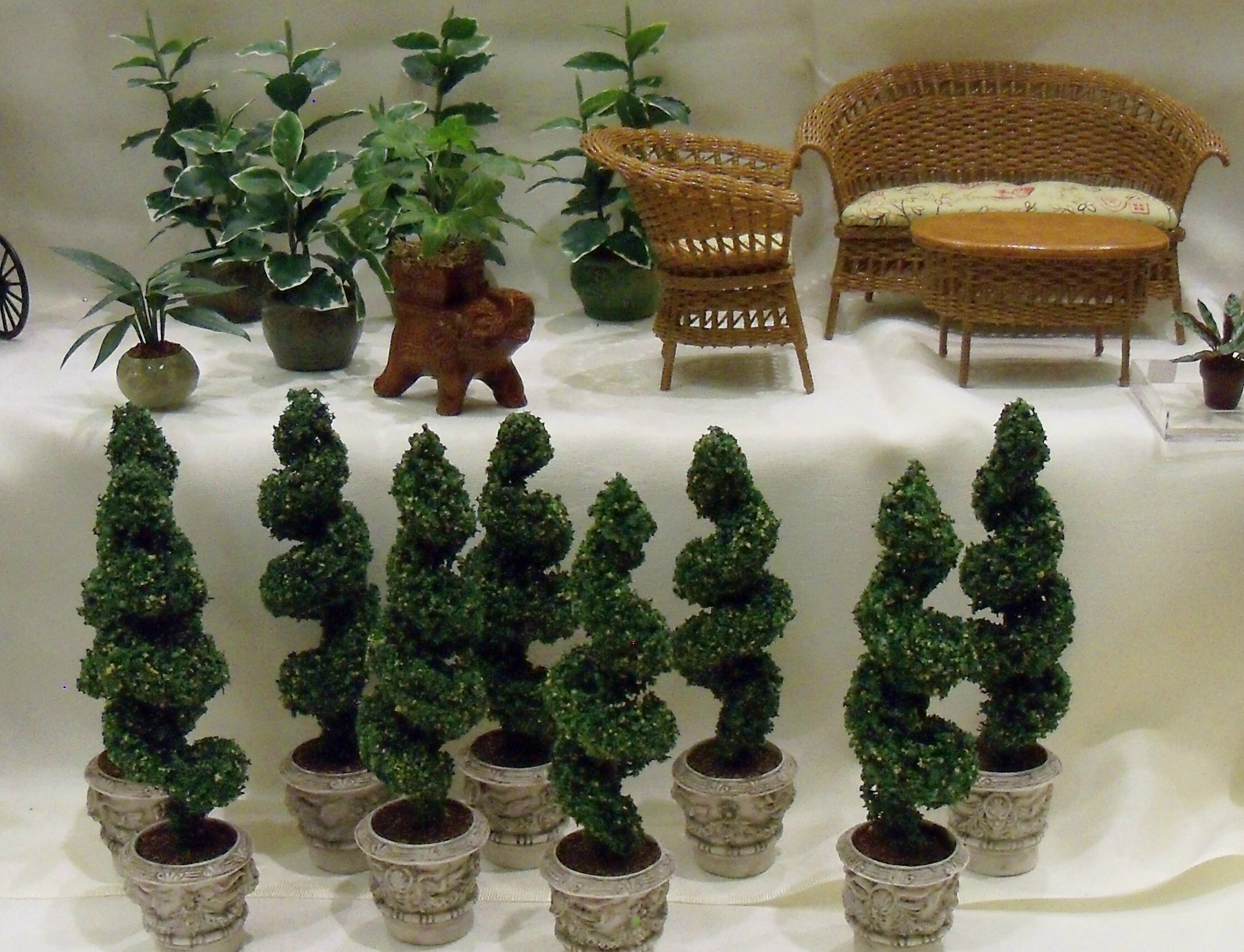 Spiral shape topiaries