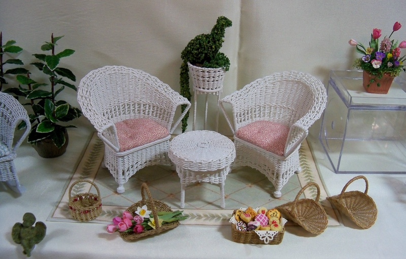 White chairs and table