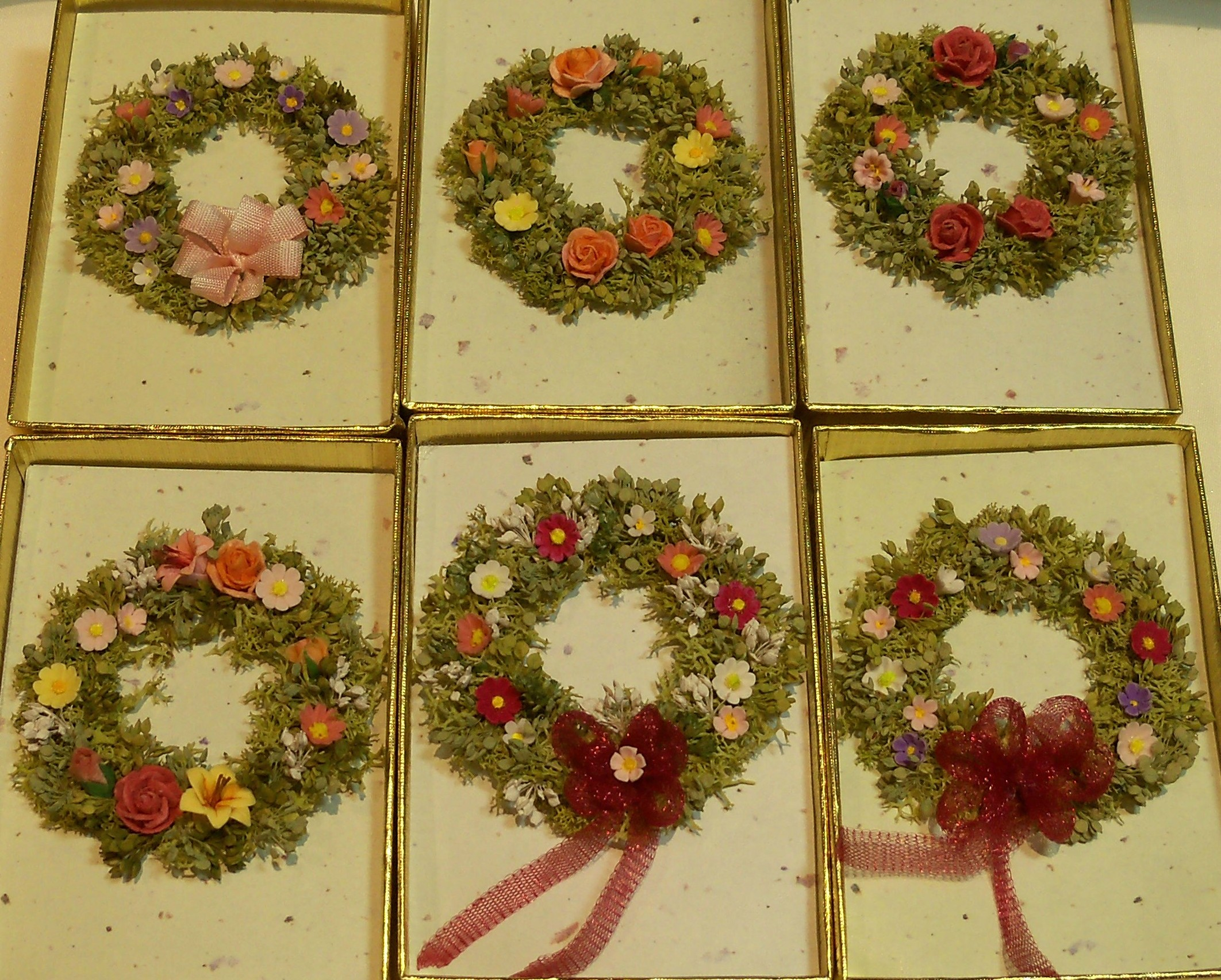 Spring flower wreaths