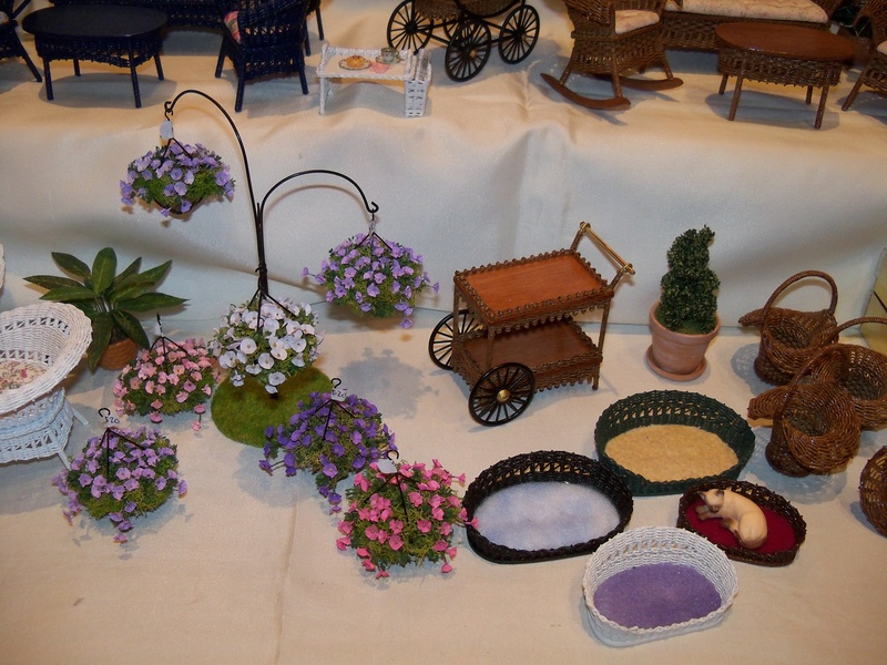 Petunia baskets and woven items