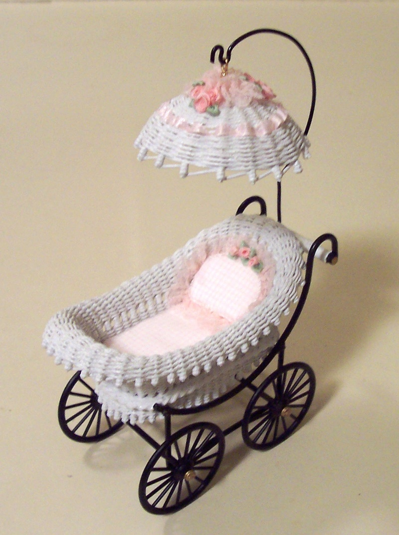 White wicker carriage
