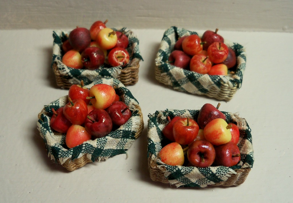 New basket with apples
