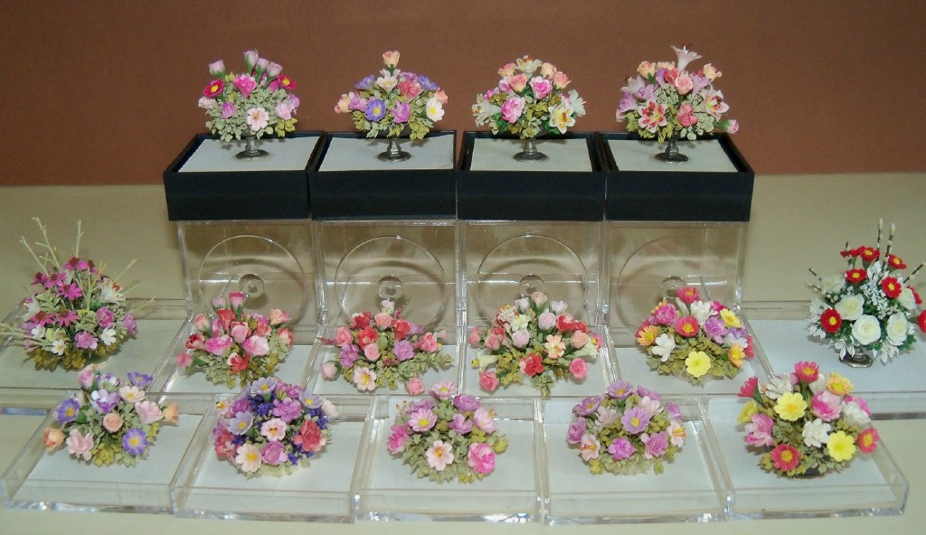 New floral centerpieces