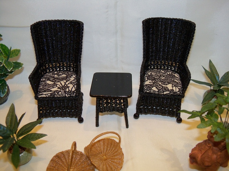 Black square wing chairs