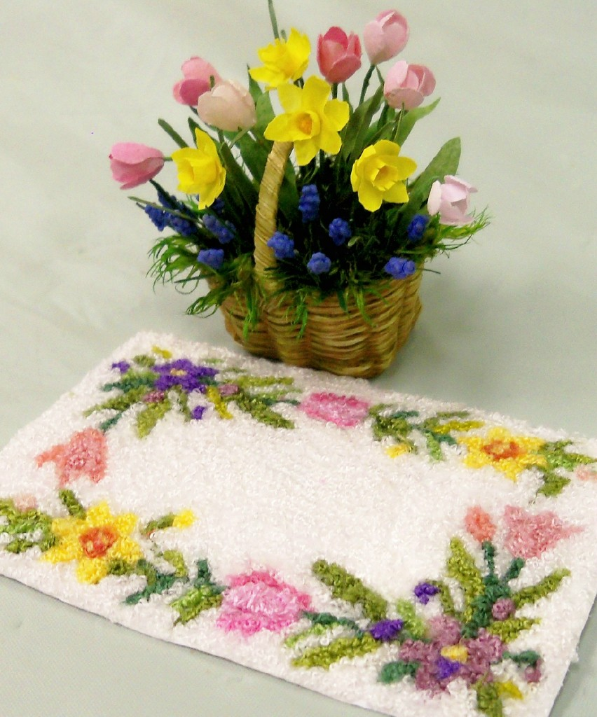 Spring flower basket and rug class